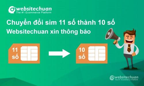 Chuyển đổi thuê bao 11 số thành 10 số: Websitechuan xin thông báo