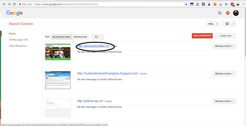 Khai báo sitemap với google webmaster tool