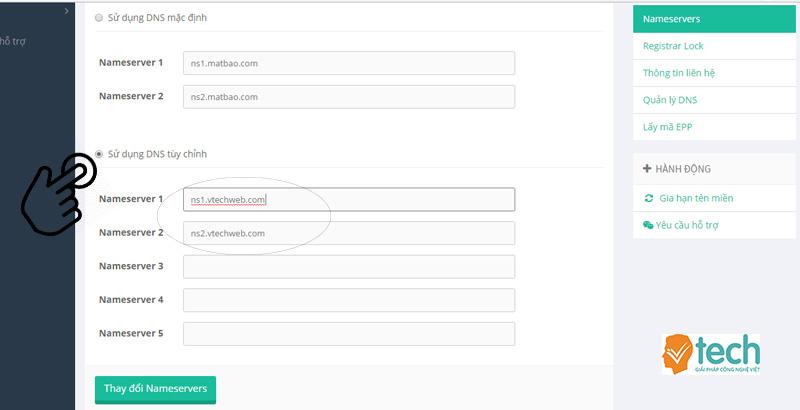 Hướng dẫn trỏ tên miền riêng về website