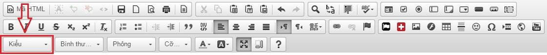 tạo button trong hệ thống vtech cms