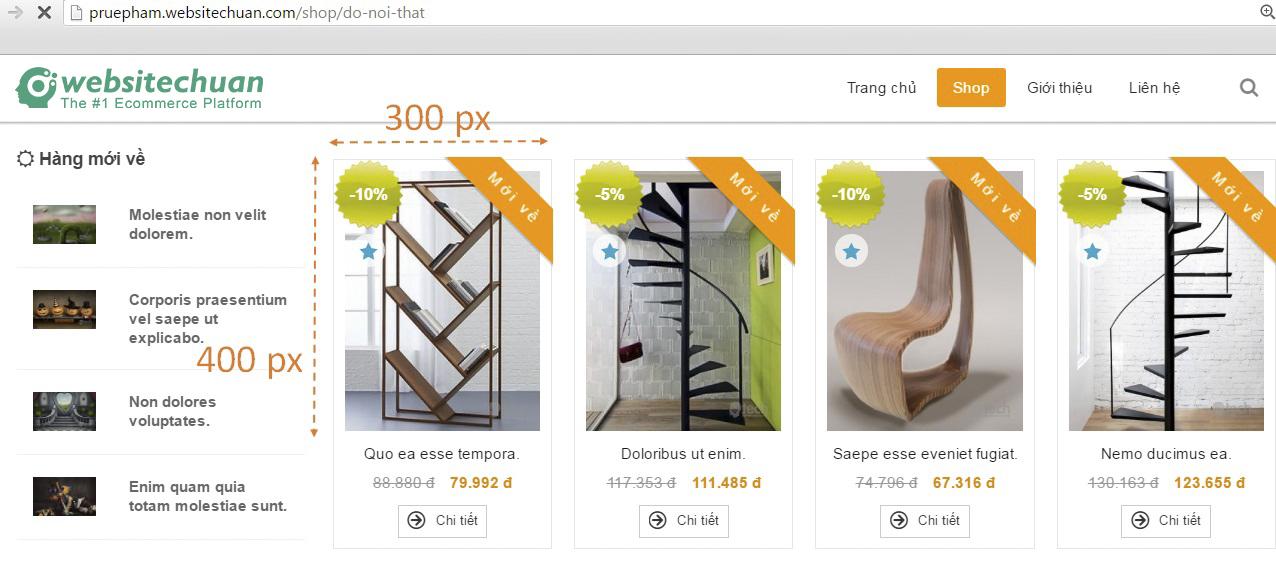 Kích thước hình ảnh minh họa trong sản phẩm