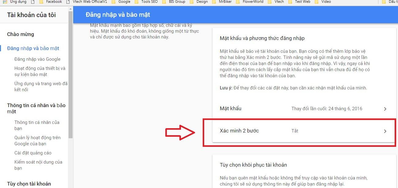 xác minh tài khoản gmail