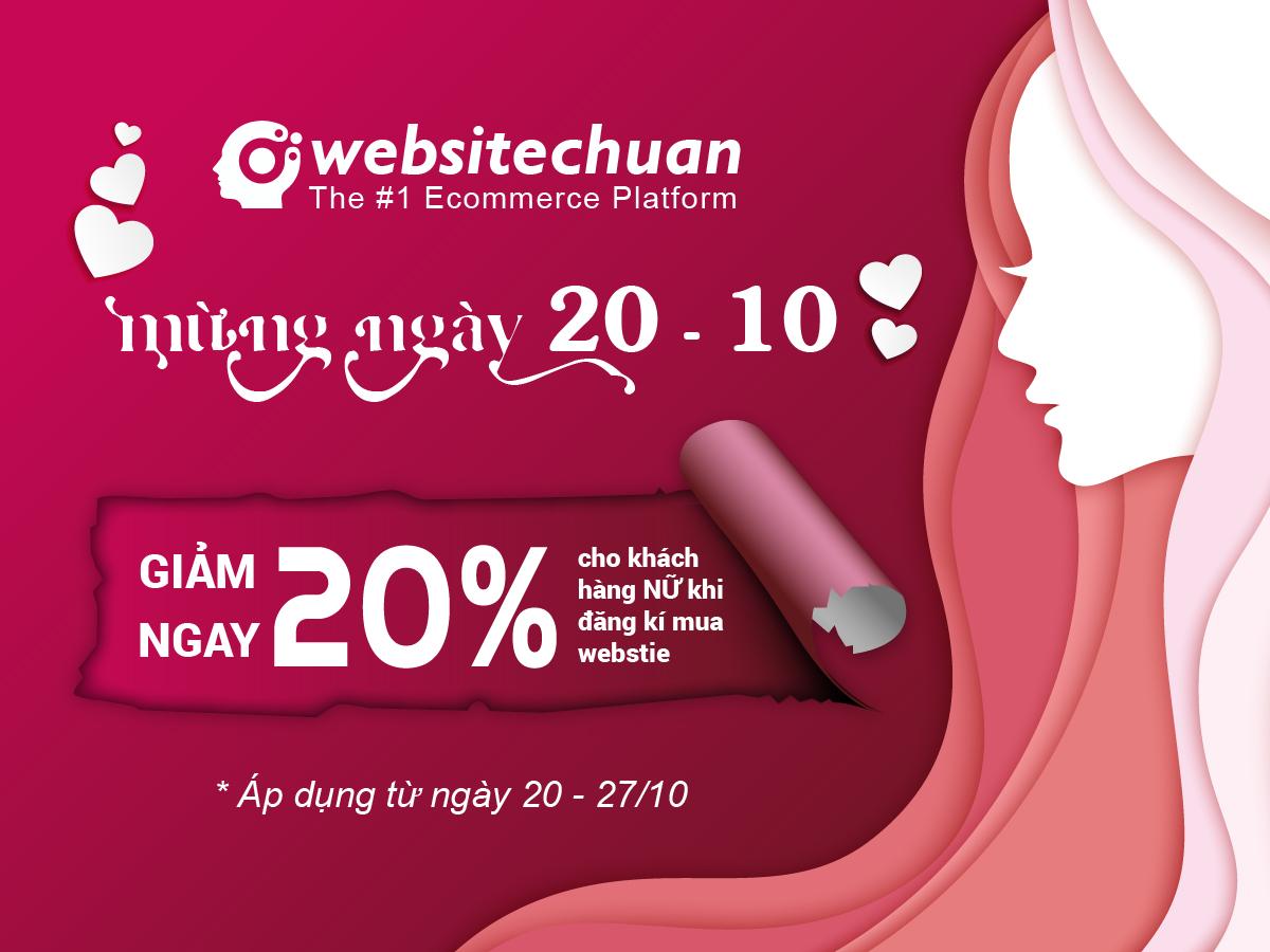 Chúc mừng ngày Phụ nữ Việt Nam 20/10 – giảm 20% cho chị em phụ nữ đăng ký sử dụng website tại Websitechuan